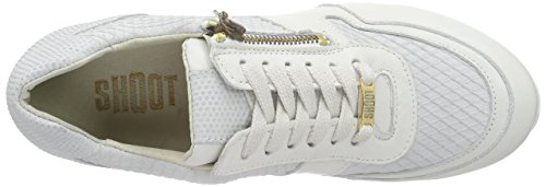 SHOOT Shoot Shoes Sh-215078r Damen Sommer Leder Sneaker, Baskets Basses femme Blanc - Blanc