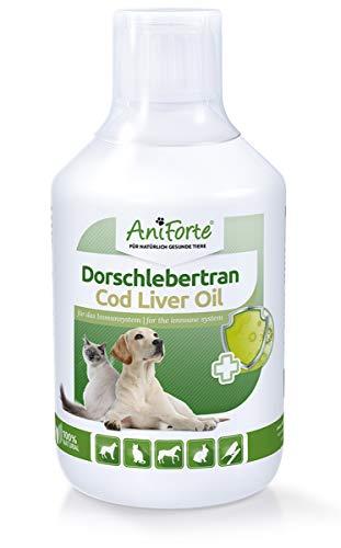 AniForte Dorsch-Lebertran 500 ml für Hunde, Katzen, Pferde und Haustiere, Natürliche Quelle für Vitamin D und Omega-3-Fettsäuren