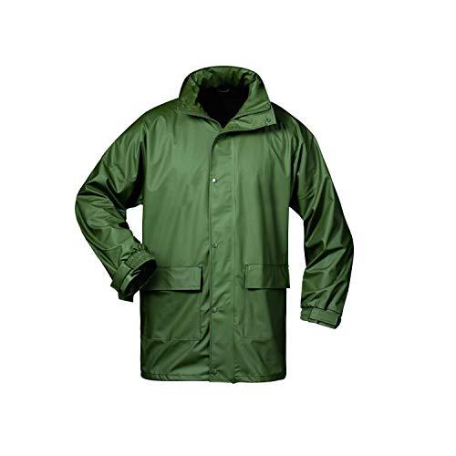 Norway PU Regen-Jacke mit Kapuze - Oliv - Größe: XL