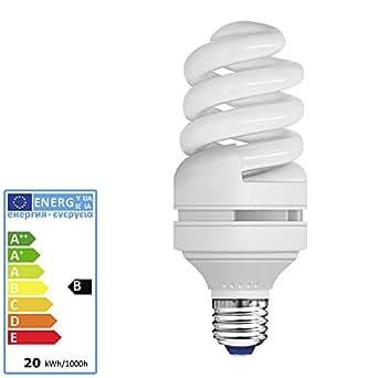 m ller licht energiesparlampe spiral tageslicht e27 20 watt 6500 kelvin 950 lumen std. Black Bedroom Furniture Sets. Home Design Ideas