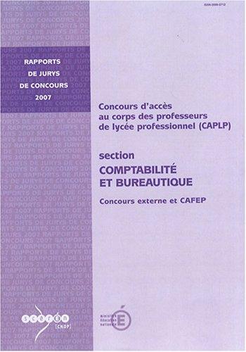 CAPLP externe et CAFEP Comptabilité et bureautique