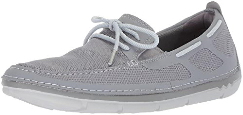 Clarks Men's Step Maro Wave Boat scarpe, grigio Textile, 10 Medium US | Facile da usare  | Scolaro/Signora Scarpa