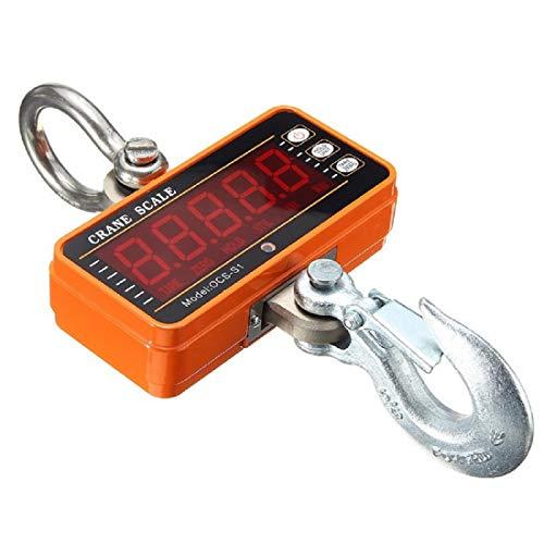 Isunking 1000kg 907,2kilogram 1T Aluminium balance numérique de grue Heavy Duty Compact à suspendre Échelle Ocs-s1Smart type LED display 0.5kg Orange