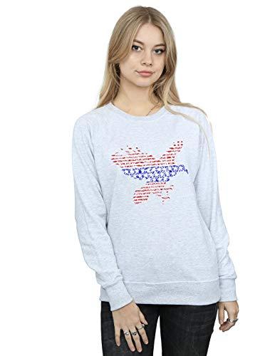Absolute Cult Drewbacca Damen American Eagle Sweatshirt Sport Grau X-Large American Eagle Sweatshirt