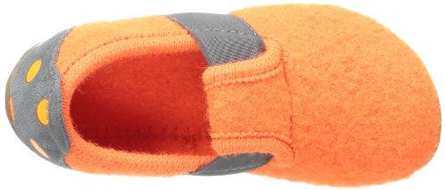 Living Kitzbühel T-modell Neon Punkteferse, chaussons d'intérieur fille Orange  - Orange (shocking orange 153)