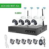 Wireless Surveillance Camera System 1080P, Myada 4CH WiFi CCTV Camera Security System 2MP