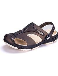 Xing Lin Sandales Pour Hommes Trou De Sport Chaussures Pour Hommes Chaussures De Plage Tendance Jardin Télévision Baotou Chaussures Antidérapantes Pour Hommes Sandales Creux 38