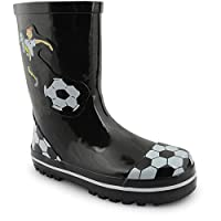 New Kids Boys Girls Snow Winter Rain Waterproof Wellington Boots UK Size 8-2, Maradona Black UK 12