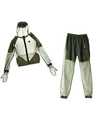 MagiDeal Combinaison Anti Moustique Insecte Abeille Manteau et Pantalons Vêtement Protection Répulsif à Sec Rapide pour Pêche Camping Randonnée
