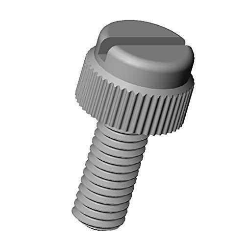 ajile - 20 pièces - Vis moletée fendue nylon diam. M4 | longueur = 10 mm plastique polyamide PA6.6 isolant