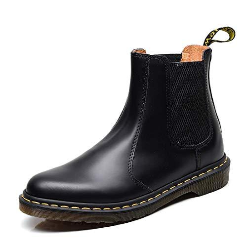 Orktree Unisex-Erwachsene Chelsea Boots Damen Stiefel Derby Wasserdicht Kurz Stiefeletten Schuhe Herren Worker Boots, Schwarz, 40 EU
