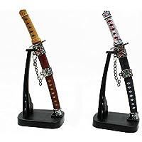 Abrecartas de espada de samurái o ninja, 17cm, decoración de mesa