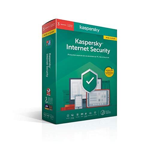 Kaspersky Internet Security 2020 Mise à jour (3 Postes / 1 An)|Internet Security|3 appareils|1 An|PC/MAC/Android|Telechargem
