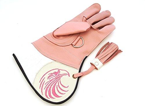 Mujer Calidad doble capa suave piel de vaca guantes de cetrería/Bird Guantes de manejo/Pet Guantes.