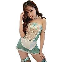 Yinglite cameriera cameriere Completino cameriera hostess Infermiera poliziotta uniforme delle donne tentazione sexy Lingerie abito di pizzo Vestiti di travestimento Cosplay