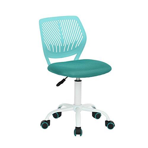 CarnationSedia da scrivania per bambini in tessuto, modello Dactylo, regolabile con ruote, colore verde Turquoise