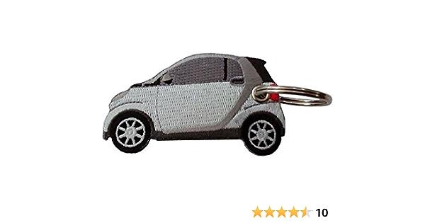 Smart Weiss Doppelseitiger Schlüsselanhänger Auto
