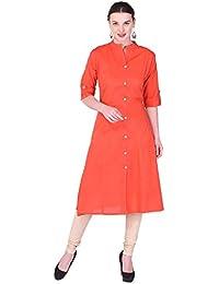 Palakh Women's Cotton Front Button Kurti