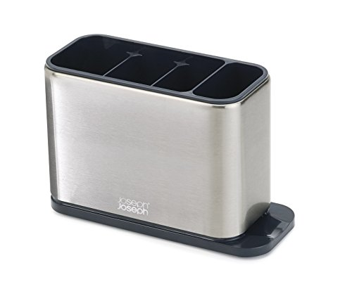 Joseph Joseph Surface Stainless-Steel Cutlery Drainer - Silver