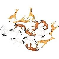 MagiDeal Paquete de 15 Piezas 1:87 Modelo Animal de Caballo Y Jirafa para DIY Paisaje Accesorio Decoración de Casa