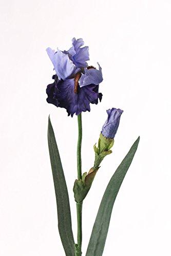 artplants – Künstliche Iris, blau, Deluxe, 70 cm – Deko Schwertlilie/Kunstblume