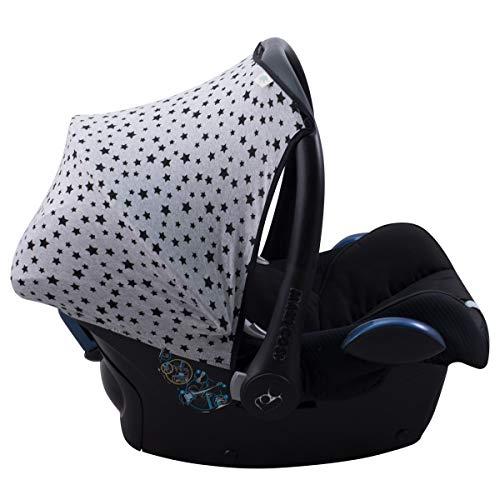 JANABEBE Sonnenverdeck für Maxi-Cosi Cabriofix Gruppe 0 (Black Star)