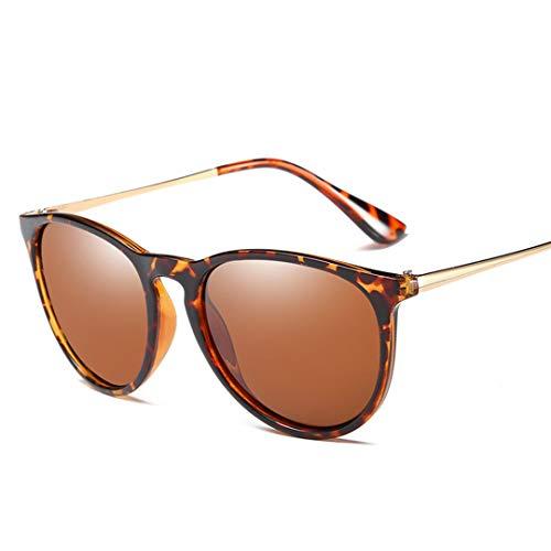 DAIYSNAFDN Polarisierte Sonnenbrille Frauen Männer Gold Rose Spiegel Sonnenbrille Für Vintage Shades Uv400 Leopard