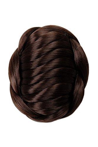 WIG ME UP - TYD-0022-6 Haarknoten Dutt Haarteil aufwendig geflochten Tracht Hochzeit braun -