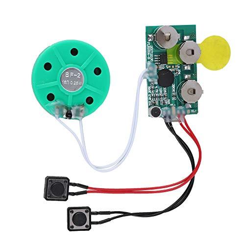Focket Sprachmodul, 4 Minuten Sprach-Soundchip, Musik-Sound Sprachaufzeichnungs-Player-Chipmodul für Grußkarten. (Musikalische Elektronik)