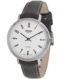 Boccia Damen-Armbanduhr Analog Quarz Leder 3246-03
