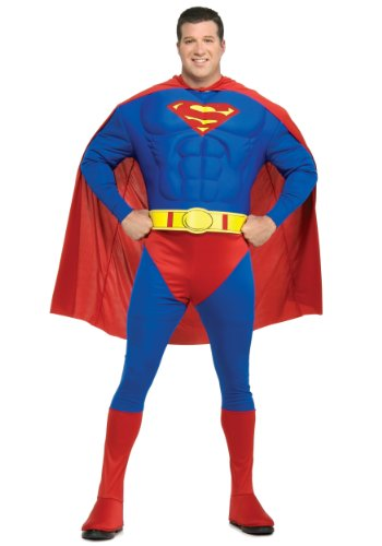 Deluxe Superman Muskelbrust für die vollere (Kostüme Superman Plus Size Deluxe)
