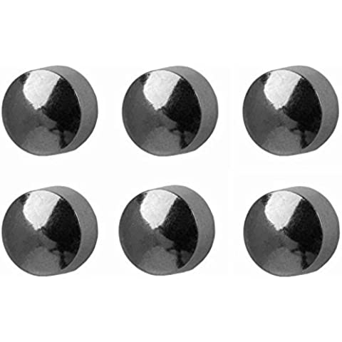 6paia di Studex Piercing da orecchio mini orecchini a perno in acciaio inox color argento tradizionale, 2mm sfera