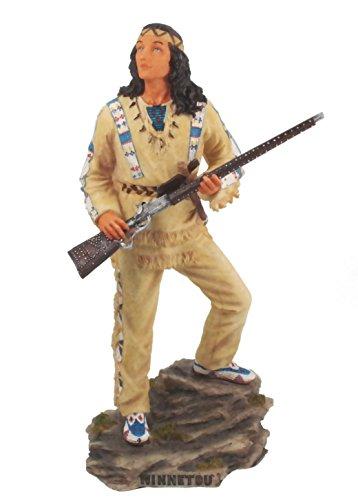 Winnetou steht auf Felsen Figur Original Karl- May Lizenzprodukt