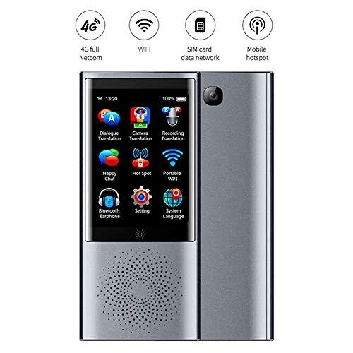 LXYFMS Intelligentes Übersetzungsgerät, 2,8-Zoll-Touchscreen 45 mehrsprachiger Bildschirm für tragbare Übersetzungsgeräte Übersetzer (Color : Gray)