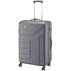 Travelite Valise trolley Vector avec 4 roues anthracite Koffer, 77 cm, 103 liters, Schwarz (Anthracite)