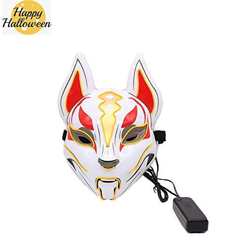 Himmel Tänzer Kostüm - NBKLS Halloween Fox Maske LED-Glühen EL