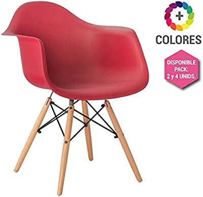 Silla Eames DSW - Tower Wood Con Reposabrazos