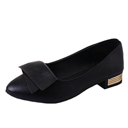 Damen Schuhe DELLIN Damen Nude Shallow Mouth Sommer Mode Casual Tanzschuhe Pumps Datum Sexy Thin Heels Shoes Elegant Ladies Office Work Hochhackige Schuhe (35, Schwarz) (Womens Casual-schuhe Größe 10)