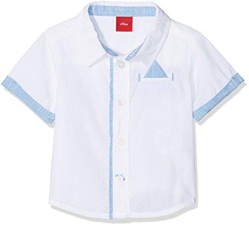 s.Oliver Baby-Jungen Hemd 59.805.22.6409, Weiß (White 0100), 92