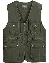 b6d9636e2fc3 Cotton Multi-Pocket-Weste, Fotografie Weste, Angelweste Männer im mittleren  Alter,
