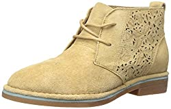 Hush Puppies Women s Cyra Catelyn Boot Chino Tan Perforated Suede 9.5 B(M) US