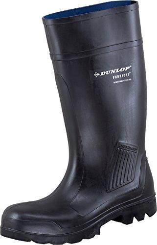 Dunlop Purofort–Bottes de sécurité en 3couleurs Noir - Noir