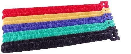 NTE Electronics Kabelbinder, 25 cm, verschiedene Farben, 10 Stück pro Beutel, 2 Stück Nte Electronics