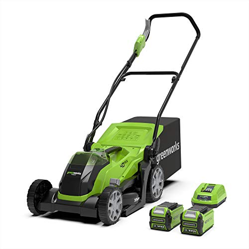 Greenworks Tools G40LM35K2X (Art No: 2501907UC) G40LM35K2 Lawn Mower, 40 V, Green, 35cm
