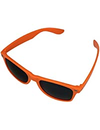 BOOLAVARD ® 4026 Lunettes de soleil modèle Nerd (Teinte Orange)