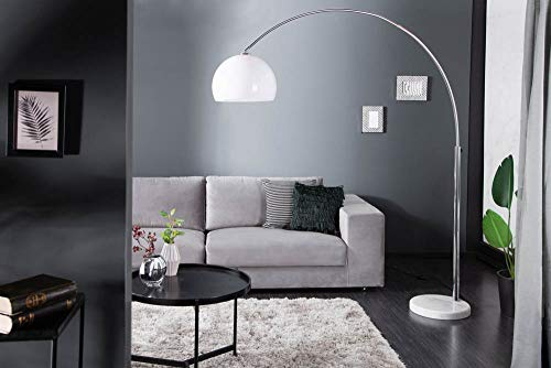 Design Bogenlampe mit Marmorfuß - 3