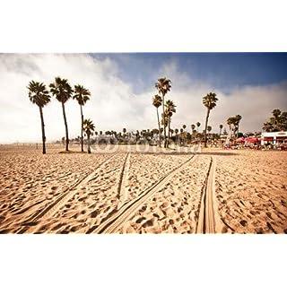 adrium Poster-Bild 60 x 40 cm: Santa Monica Beach, California, USA, Bild auf Poster