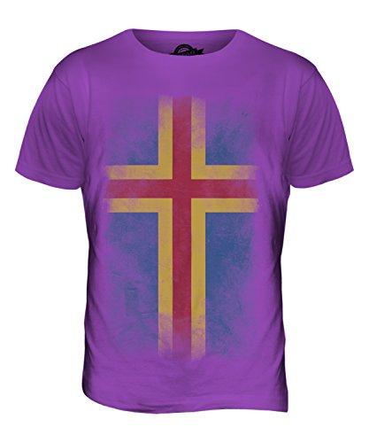 CandyMix Åland Verblichen Flagge Herren T Shirt Violett