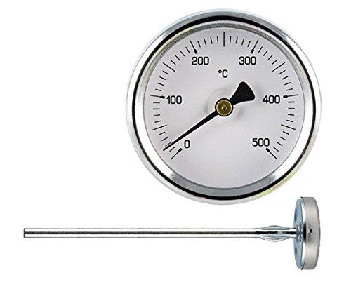 Termómetro 0-500° para hornos Pizza y barbacoa. Sonda mm.300
