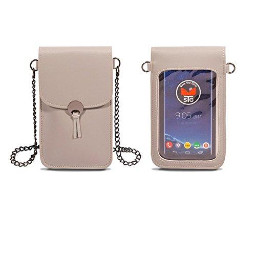 Save the Girls Touch Screen Purses Colorado Handy-Geldbörse mit Zusatzfach, Grau (hellgrau), Einheitsgröße (Entsperrt Iphone 6 Grau)